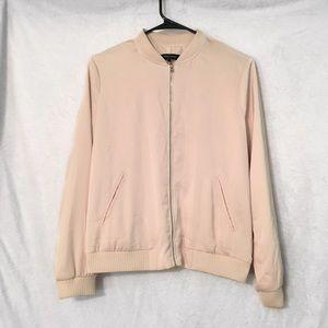 Zara blush pink bomber jacket